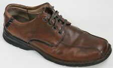 Clark Men's Oxfords Bicycle Toe Shoes Size 12 Brown Leather