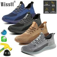 Mens Waterproof Safety Steel Toe Cap Work Hiking Boots TPR Ankle Shoes Sneakers
