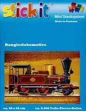 Mini Stecksystem Rangierlokomotive braun ca. 8.900 Teile mit XXL-Steckvorlage