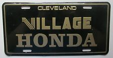1990's VILLAGE HONDA DEALERSHIP CLEVELAND TENNESSEE BOOSTER License Plate