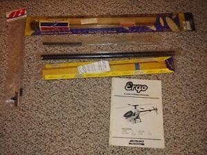 Vintage ERGO Nitro Gas Radio Control Helicopter Part,Wood Rotor Blades Crash Kit