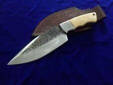 """10.5"""" SEO Custom Handmade Full Tang 1095 Carbon Steel Bushcraft Skinning Knife"""