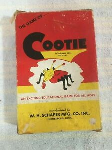 Vintage 1949 Cootie Game by Schaper w/ Original Box