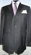 DUNHILL -LONDON CLASSIC ELEGANT DESIGNER GREY SUIT JACKET/BLAZER UK 44L EU 54L