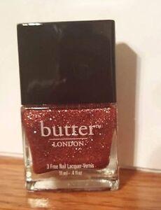 "Butter London 3 Free Nail Polish ""Rosie Lee"" (pale pink glitter) FS .4 oz NEW!"