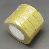 50 Yard/46 mtr Roll Of Sheer Organza Ribbon - 6 & 10mm width - Many Colours