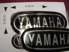 Repro Yamaha AT DT CT1 & ?? others tank badges  Blk/Chrome Lg style Vintage MX
