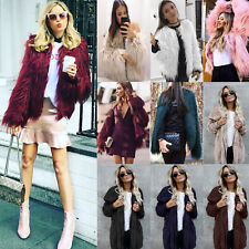 Luxury Women Warm Faux Fur Parka Coat Overcoat Winter Casual Long Jacket Outwear