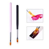 Gradient Acrylic Brush UV Gel Painting Pen Pink Black Wooden Handle Nail Tool