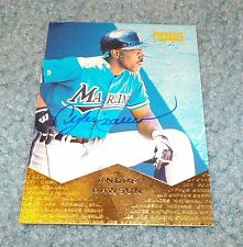 Florida Marlins Andre Dawson Signed Autographed 1997 Pinnacle Card