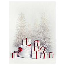 5x7ft White Christmas Gift Photography Backgrounds Backdrops White F9Q6