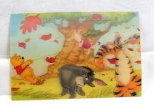 "VTG 3D Lenticular Postcard Walt Disney "" Winnie the Pooh ""  Windy 100 Acre Woods"