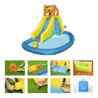 Inflatable Mega Water Park Bestway Mount Splash Kids H2OGO Bouncy Castle Slide