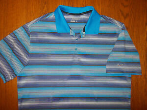 NIKE GOLF TOUR PERFORMANCE SHORT SLEEVE STRIPED POLO SHIRT MENS LARGE GODD COND.
