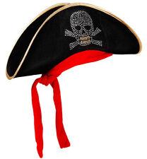 Jonny Silver Piratenhut NEU - Karneval Fasching Hut Mütze Kopfbedeckung