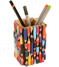 Recycled Crayons Pen & Pencil Pot Holder for the Desktop Handmade Stationery