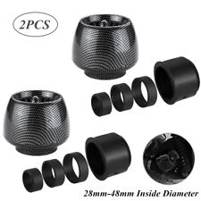 2PCS Carbon Fiber Motorcycle Straight Pipe ATV Air Intake Filter 28-48mm Caliber