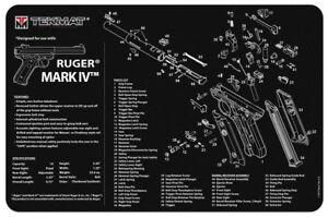 "Illustrated Gun Cleaning & Repair Mat for Ruger Pistol 11"" x 17"" Neoprene Rubber"
