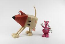 LBS === 2 x Werbefiguren Hund / Kängeru Reklame Figuren Bausparkasse
