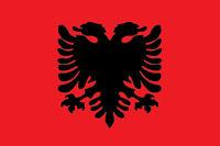 N°2 ADESIVO BANDIERA FLAG ALBANIA DECAL STICKER AUTO MOTO 2 PEZZI