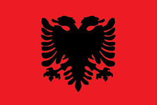 N°2 ADESIVO BANDIERA FLAG ALBANIA DECAL STICKER AUTO MOTO 2 PEZZI