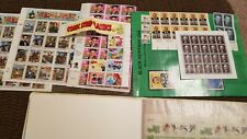 stamp collection sheets, and used