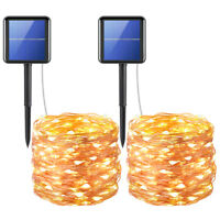 1/2*72ft 400&LED_Solar Strip Fairy Copper Wire String Lights Xmas Party Decor