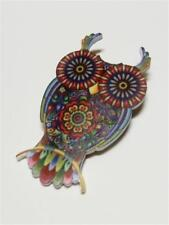 CG3098...ACRYLIC BROOCH - COLOURFUL OWL - FREE UK P&P
