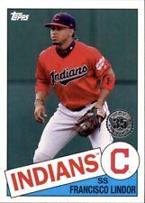 2020 Topps 1985 Insert Francisco Lindor Cleveland Indians #85-39
