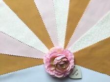 Fabric Bunting Pink Gold Ivory Wedding Celebration Party Decor 3m - Megan
