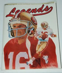 Legends Sports Memorabilia Magazine Winter 1990 Joe Montana