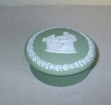 Wedgwood Jasperware Salvia Verde Piccolo Cupids Maschera scatola rotonda