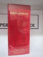 DOLCE & GABBANA RED EDT SPRAY FOR WOMEN 3.3 FL OZ/100 ML SEALED