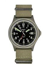 MWC GMT 100m | Cuarzo Reloj Militar | atornillar Crown & Case atrás | fecha