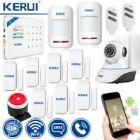 KERUI 720P CCTV IP Camera W18 Wireless WiFi GSM SMS Home Security Alarm System