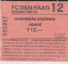 Sammler Used Ticket / Entrada FC Den Haag 1985-1986