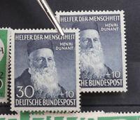 Bundesrepublik postfrischer Lagerbestand ab 1951 in 3 Alben dicht gesteckt
