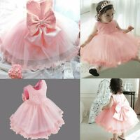 Infant Baby Girls Floral Lace Birthday Party Wedding Pageant Princess Tutu Gown