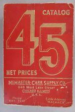McMaster-Carr CATALOG #45 - 1938