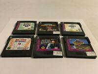 Sega Game Gear Lot of 6 Games Cartridges Only Tested See Pictures for Titles