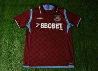 WEST HAM UNITED ENGLAND 2009/2010 FOOTBALL SHIRT JERSEY HOME UMBRO ORIGINAL