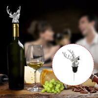 Deer Head Red Wine Pourer Aerator Stainless Steel Bottle Stopper Wine H5I1