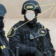 FANCY DRESS PARTY COSTUME Denmark Police Dansk Danmark POLITI vêlkrö 3-Badge Set