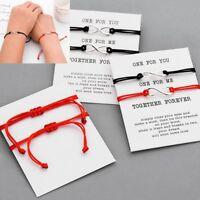2pcs Set Couple Bracelet Infinity Lovers Together Forever Love String Bracelets