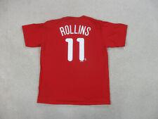 Majestic Philadelphia Phillies Shirt Adult Large Red Jimmy Rollins Baseball Men