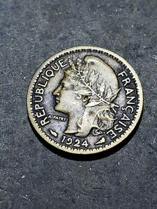 1924 Togo (French Mandate) 50 Centimes Coin #9