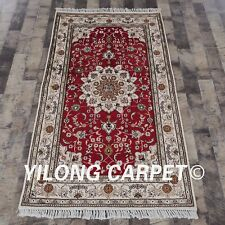 YILONG 3'x5' Handmade Classic Silk Rug Bedroom Carpet Oriental Area Rug Y128C