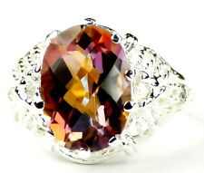 Twilight Fire Topaz, 925 Sterling Silver Ladies Ring, SR260-Handmade