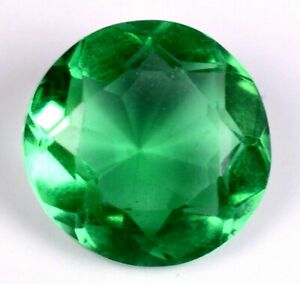 5.65 Ct. Natural Green Zambian Emerald GIE Certified Round Shape Gemstone A1621