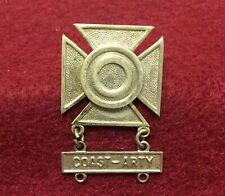Vintage WWII U S Army Sharpshooter Badge Coast Arty Artillery Bar Signed